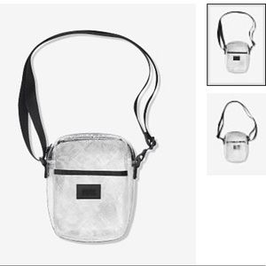 Clear transparent adjustable crossbody